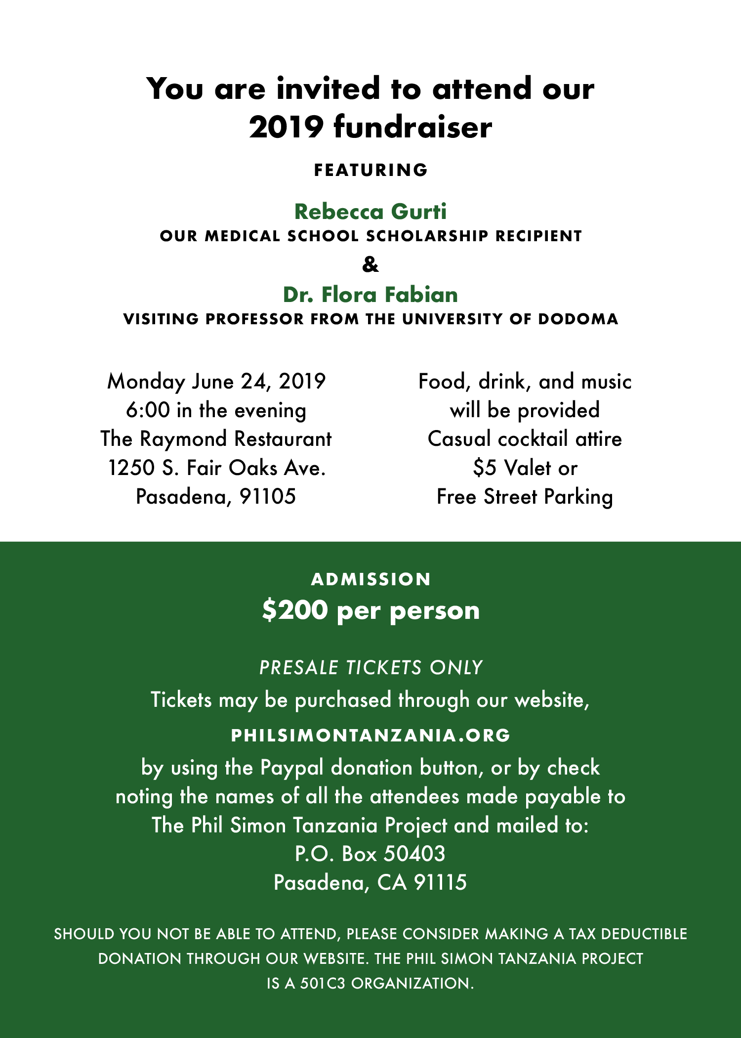 PURCHASE TICKETS NOW FOR JUNE 24TH FUNDRAISER!